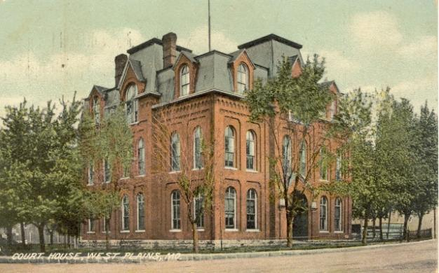 Drawing of original Howell County Courthouse