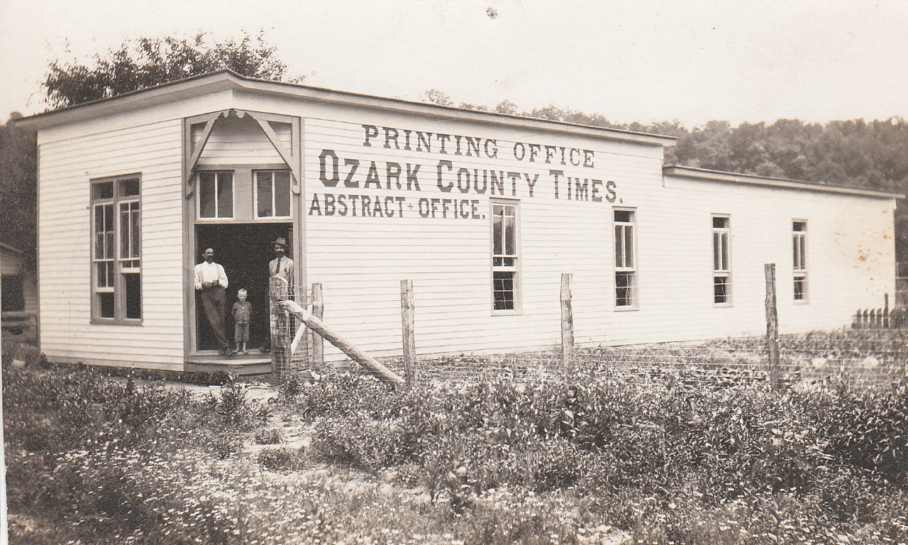 Ozark County Times Office 1908