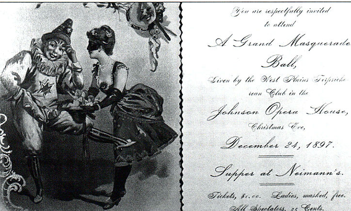 Program from a Christmas Eve event in 1897