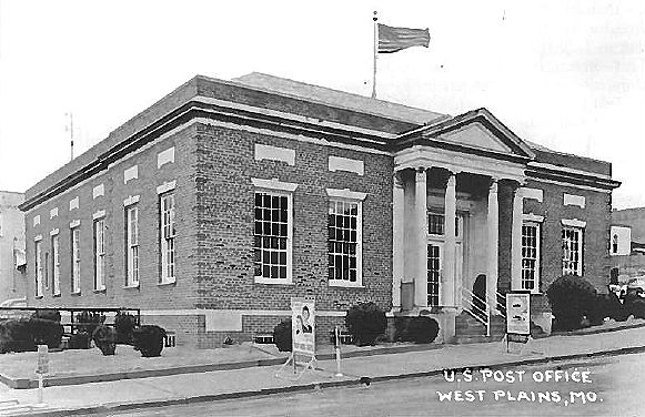 West Plains Post Office from 1930 to 1970
