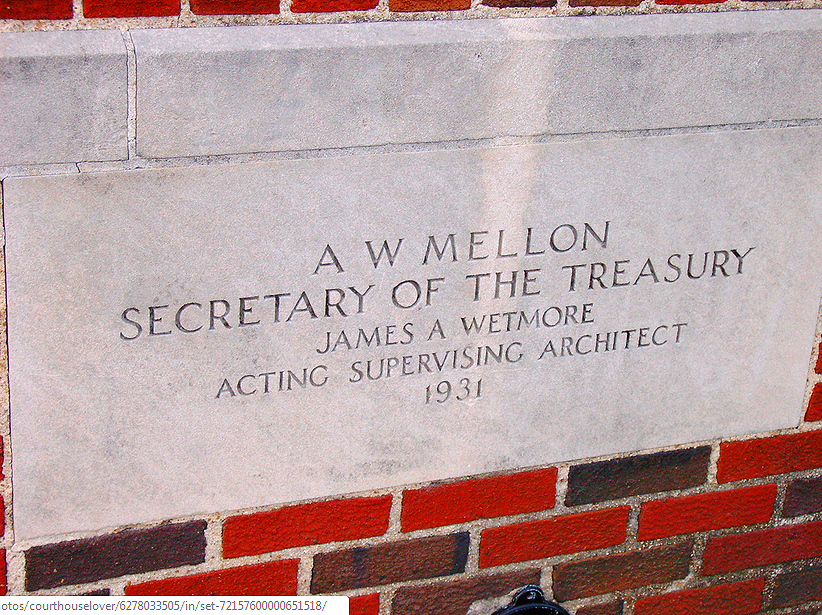 Cornerstone of the old Post Office building