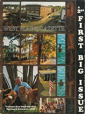 West Plains Gazette Volume One Spring & Summer 1978 Cover