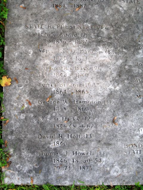 The grave of Thomas Jefferson Howell