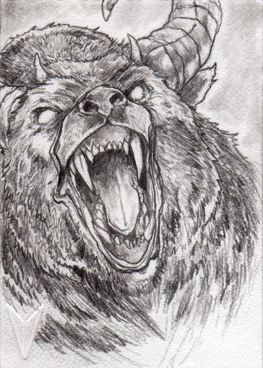Another sketch of the Ozark Howler